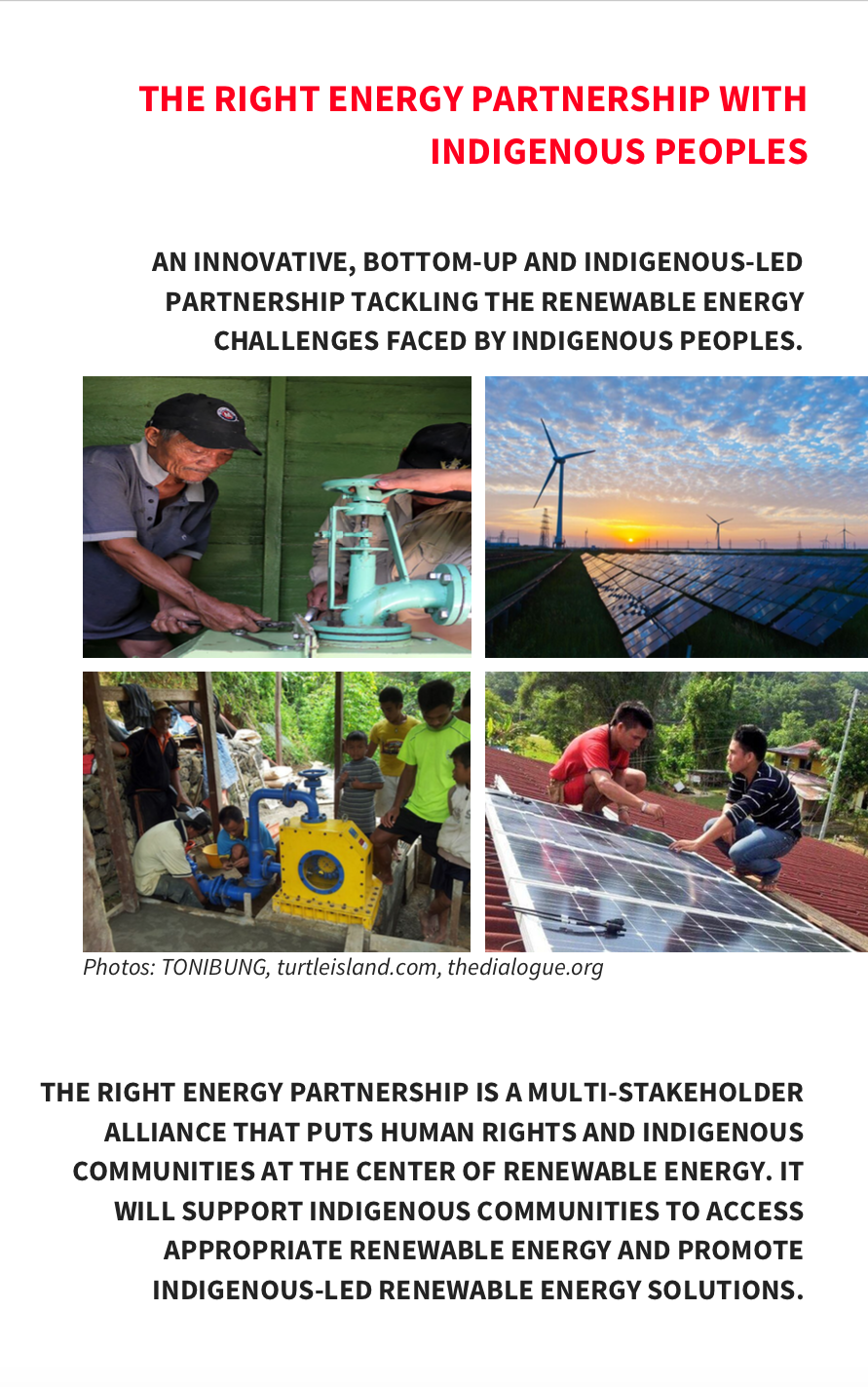 RIGHT ENERGY PARTNERSHIP BROCHURE