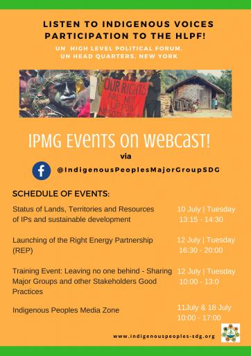 IPMG events on webcast at HLPF 2018